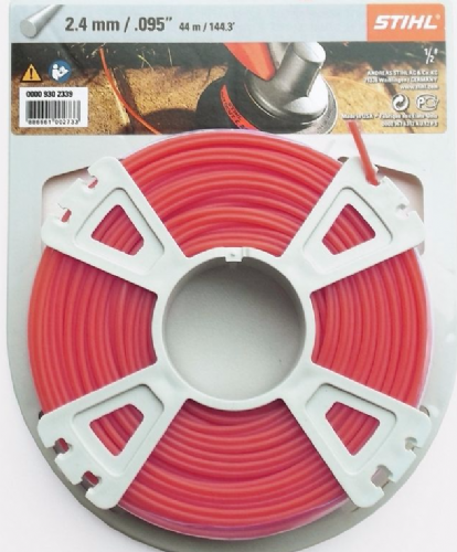 Genuine Stihl Trimmer line SQUARE (RED) 2.7mm x 80M Product Code 0000 930 3343